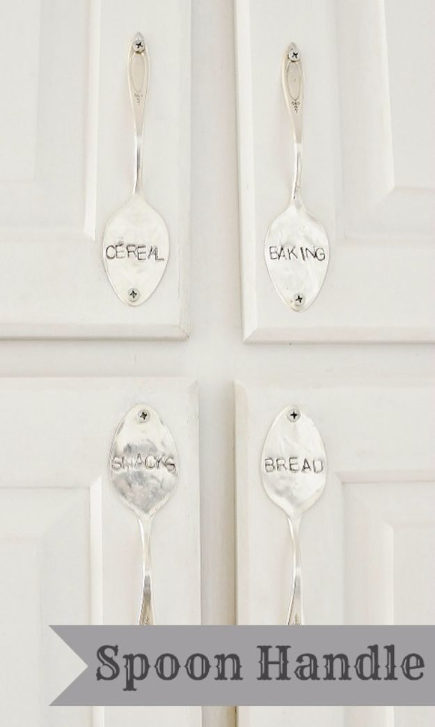 DIY Silverware Upgrades - Stamped Spoon Handles - Creative Ways To Improve Boring Silver Ware and Palce Settings - Paint, Decorate and Update Your Flatware With These Creative Do IT Yourself Tutorials- Forks, Knives and Spoons all Get Dressed Up With These New Looks For Kitchen and Dining Room