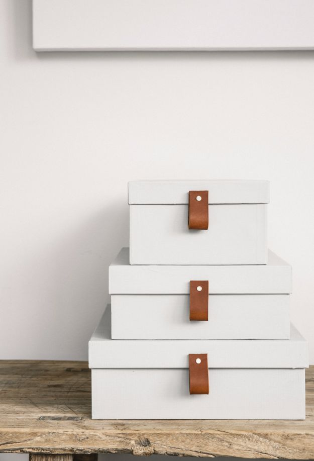DIY Ideas With Shoe Boxes - Storage Containers - Shoe Box Crafts and Organizers for Storage - How To Make A Shelf, Makeup Organizer, Kids Room Decoration, Storage Ideas Projects - Cheap Home Decor DIY Ideas for Kids, Adults and Teens Rooms http://diyjoy.com/diy-ideas-shoe-boxes