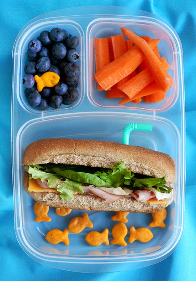 Back to School Lunch Ideas - Submarine Lunch - Quick Snacks, Lunches and Homemade Lunchables - Bento Box Style Lunch for People in A Hurry - Fast Lunch Recipes to Pack Ahead - Healthy Ideas for Kids, Teens and Adults http://diyjoy.com/back-to-school-lunches