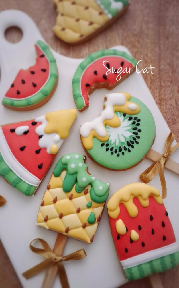 Cool Cookie Decorating Ideas - Summer Ice Cream Cookies - Easy Ways To Decorate Cute & 40 Easy Cookie Decorating Ideas