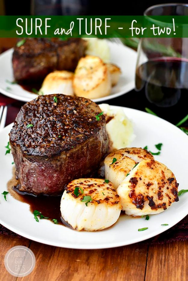 Fancy Dinner Ideas for Two - Surf and Turf for Two - Quick, Fast and Simple Recipes to Make for Two People - Freeze and Make Ahead Dinner Recipe Tips for Best Weeknight Dinners - Chicken, Fish, Vegetable, No Bake and Vegetarian Options - Crockpot, Microwave, Healthy, Lowfat