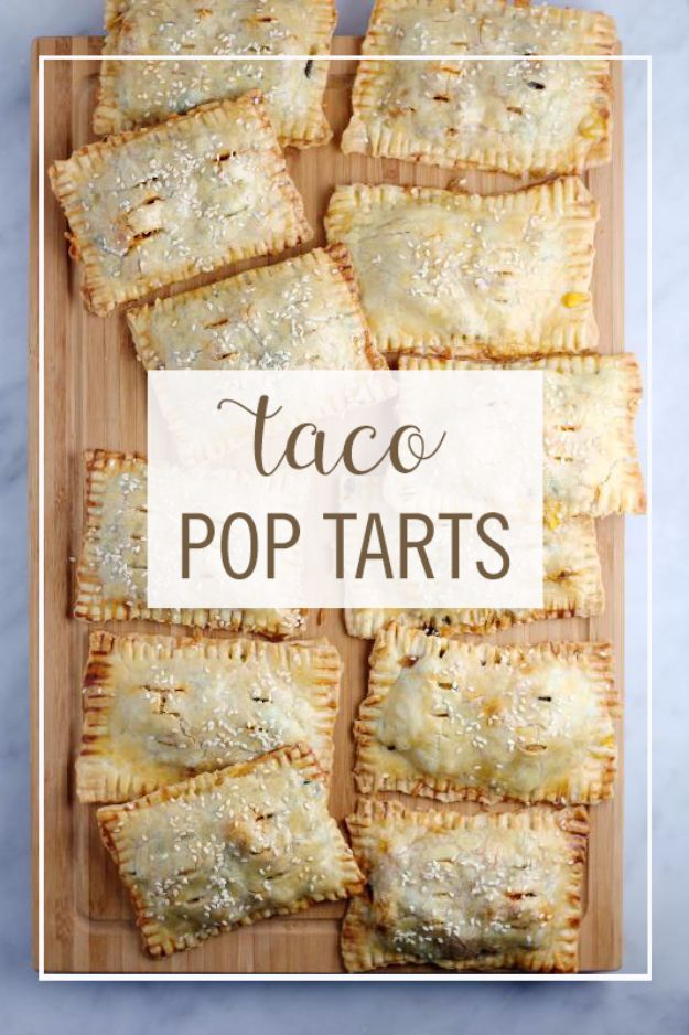 Easy Dinner Ideas for One - Taco Pop Tarts - Quick, Fast and Simple Recipes to Make for a Single Person - Freeze and Make Ahead Dinner Recipe Tips for Best Weeknight Dinners for Singles - Chicken, Fish, Vegetable, No Bake and Vegetarian Options - Crockpot, Microwave, Healthy, Lowfat Options