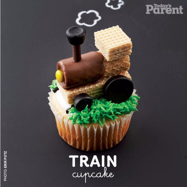 Cool Cupcake Decorating Ideas - Train Cupcake - Easy Ways To Decorate Cute, Adorable Cupcakes - Quick Recipes and Simple Decorating Tips With Icing, Candy, Chocolate, Buttercream Frosting and Fruit kids birthday party ideas cake