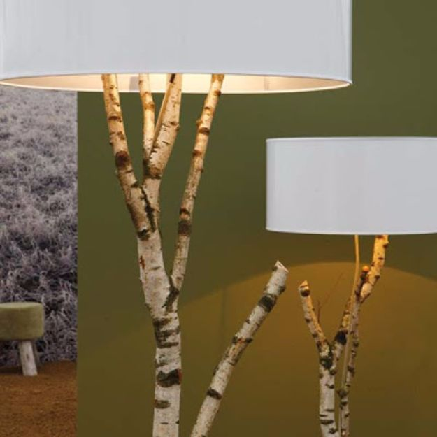 DIY Lighting Ideas and Cool DIY Light Projects for the Home - Tree Branch Lamp - Easy DIY Ideas for Chandeliers, lights, lamps, awesome pendants and creative hanging fixtures, complete with tutorials with instructions. Cheap do it yourself lighting tutorials for indoor - bedroom, living room, bathroom, kitchen DIY Projects and Crafts for Women and Men