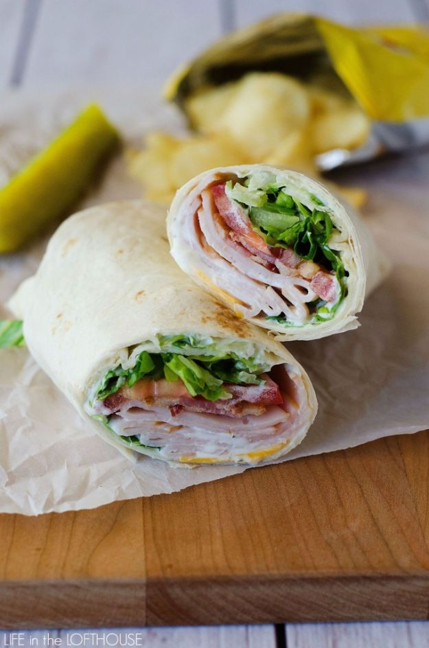 Back to School Lunch Ideas - Turkey Ranch Club Wraps - Quick Snacks, Lunches and Homemade Lunchables - Bento Box Style Lunch for People in A Hurry - Fast Lunch Recipes to Pack Ahead - Healthy Ideas for Kids, Teens and Adults