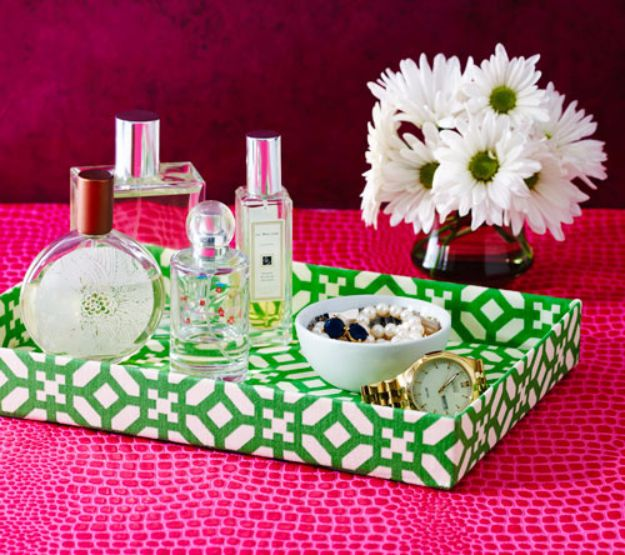 DIY Ideas With Shoe Boxes - Upcycle a Shoe Box for this Swanky Jewelry Tray - Shoe Box Crafts and Organizers for Storage - How To Make A Shelf, Makeup Organizer, Kids Room Decoration, Storage Ideas Projects - Cheap Home Decor DIY Ideas for Kids, Adults and Teens Rooms http://diyjoy.com/diy-ideas-shoe-boxes