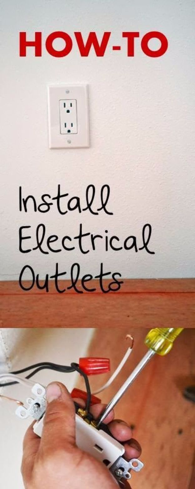 Easy Home Repair Hacks - Wire Electrical Outlets - Quick Ways To Fix Your Home With Cheap and Fast DIY Projects - Step by step Tutorials, Good Ideas for Renovating, Simple Tips and Tricks for Home Improvement on A Budget - Save Money and Time on Small Bathrooms, Kitchen, Bathroom, House and Household http://diyjoy.com/best-home-repair-hacks