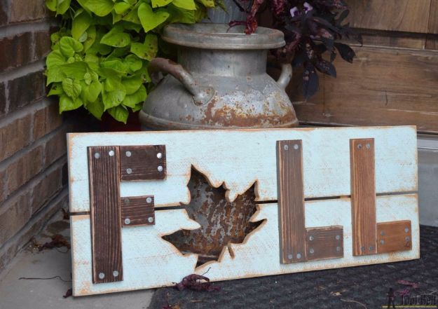 Best Crafts for Fall Decorating - Wooden Fall Sign - DIY Home Decor, Mason Jar Ideas, Dollar Store Crafts, Rustic Pumpkin Ideas, Wreaths, Candles and Wall Art, Centerpieces, Wedding Decorations, Homemade Gifts, Craft Projects with Leaves, Flowers and Burlap, Painted Art, Candles and Luminaries for Cool Home Decor - Quick and Easy Projects With Step by Step Tutorials and Instructions http://diyjoy.com/best-fall-decorating-ideas