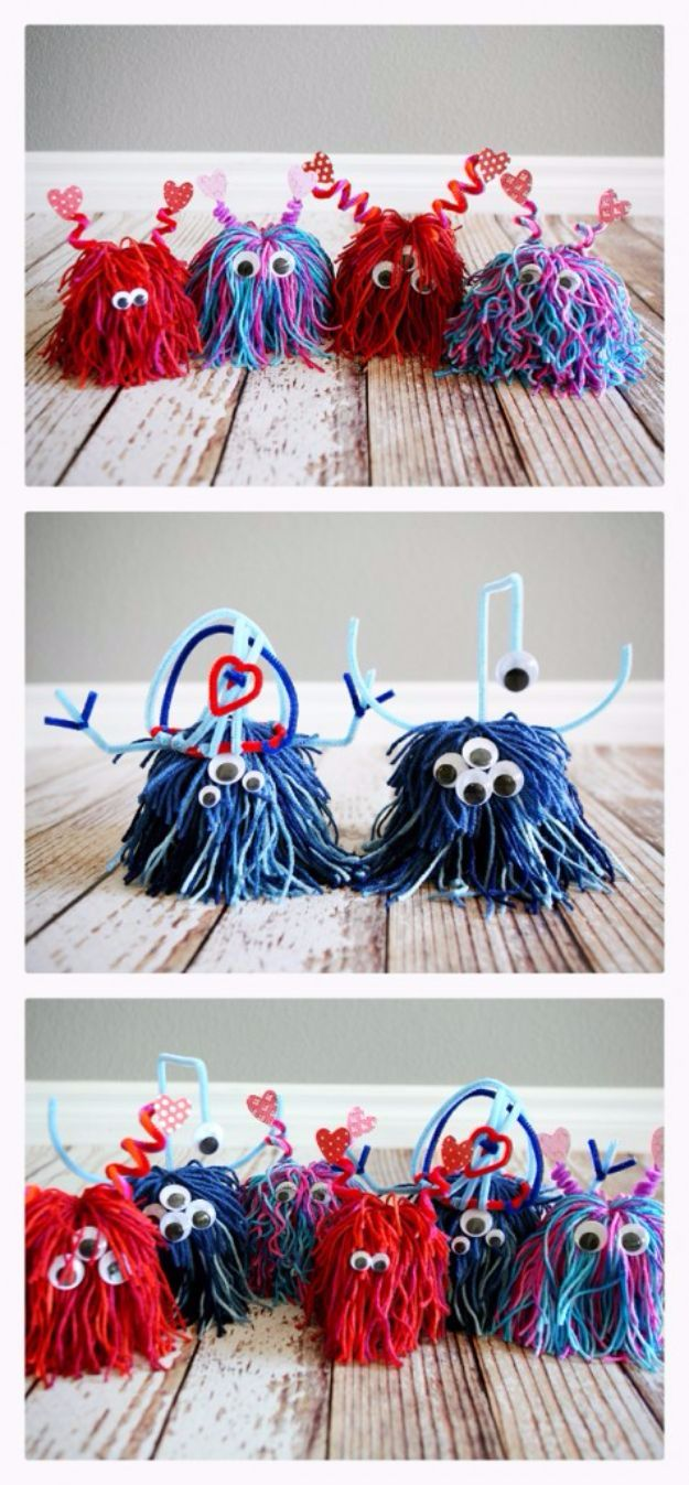 DIY Ideas With Yarn and Best Yarn Crafts - Yarn Monsters - Wall Hangings, Easy Dream Catchers, Crochet Ideas for Teens, Adults and Kids - Knitting , No Sew and Weaving Projects Make Awesome Wall Art and Home Decor on A Budget