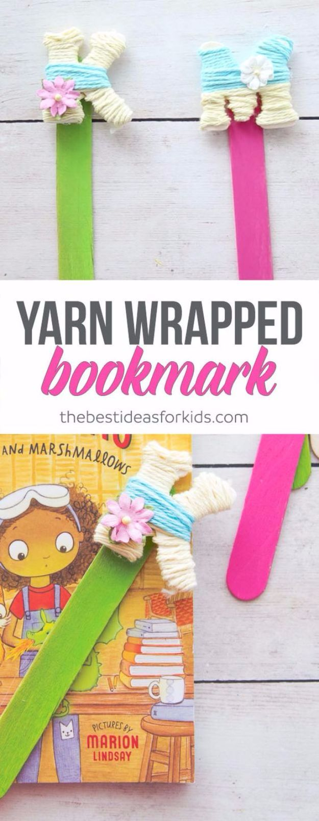 DIY Ideas With Yarn and Best Yarn Crafts - Yarn Wrapped Letter Bookmarks - Wall Hangings, Easy Dream Catchers, Crochet Ideas for Teens, Adults and Kids - Knitting , No Sew and Weaving Projects Make Awesome Wall Art and Home Decor on A Budget