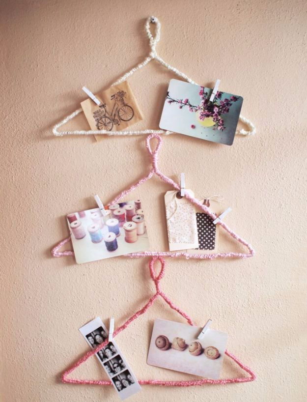 DIY Ideas With Yarn and Best Yarn Crafts - Yarn Wrapped Picture Hangers - Wall Hangings, Easy Dream Catchers, Crochet Ideas for Teens, Adults and Kids - Knitting , No Sew and Weaving Projects Make Awesome Wall Art and Home Decor on A Budget