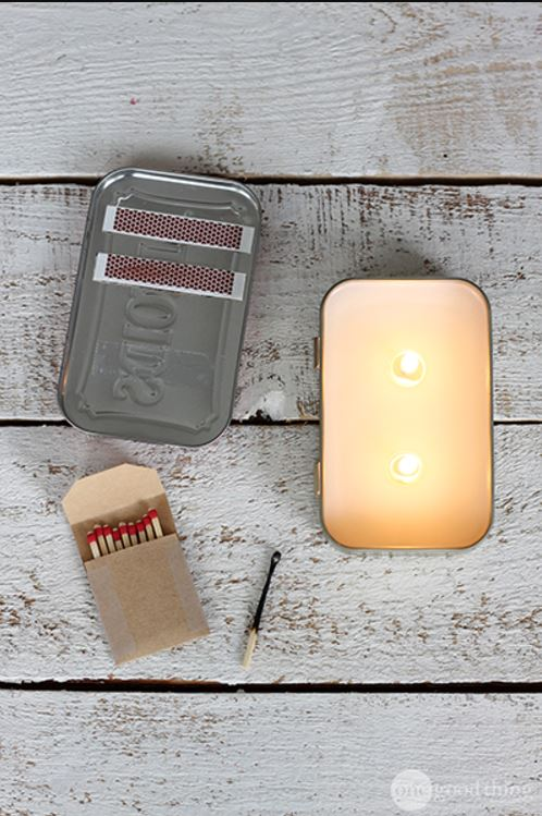 DIY Ideas for Candles - Altoids Tin Candle - Cute, Cheap and Creative Ways to Decorate With Candles - Votives and Candle Holders Make Some Of Our Favorite Home Decor Ideas and Homemade Do It Yourself Gifts - Give One of These Inexpensive Ideas to Mom, Dad and Friends - Easy Dollar Store Crafts With Candle http://diyjoy.com/diy-ideas-candles