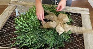 DIY Boxwood Farmhouse Wreath