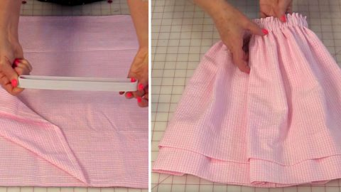 Sewing Tutorial : Double Hem Skirt   DIY Joy Projects and Crafts Ideas