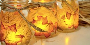 She Puts Leaves On Mason Jars And Makes For Amazing Fall Decor. Watch!