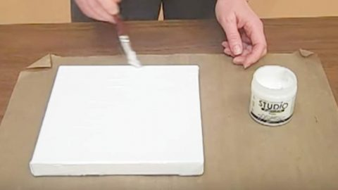 She Brushes A Product On A Canvas And What She Does Next Is Like Magic. Watch! | DIY Joy Projects and Crafts Ideas