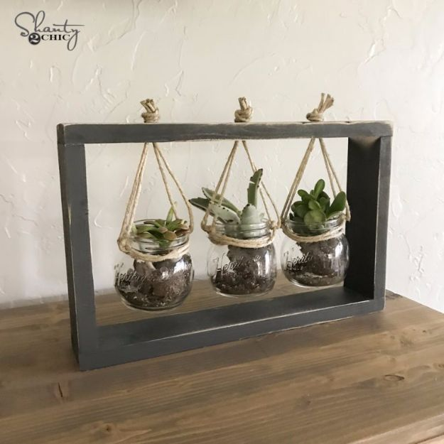 Cheap DIY Gifts and Inexpensive Homemade Christmas Gift Ideas for People on A Budget - $10 DIY Succulent Frame - To Make These Cool Presents Instead of Buying for the Holidays - Easy and Low Cost Gifts for Mom, Dad, Friends and Family - Quick Dollar Store Crafts and Projects for Xmas Gift Giving Parties - Step by Step Tutorials and Instructions http://diyjoy.com/cheap-holiday-gift-ideas-to-make