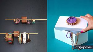 34 Crafty DIY Jewelry Boxes and Storage Ideas