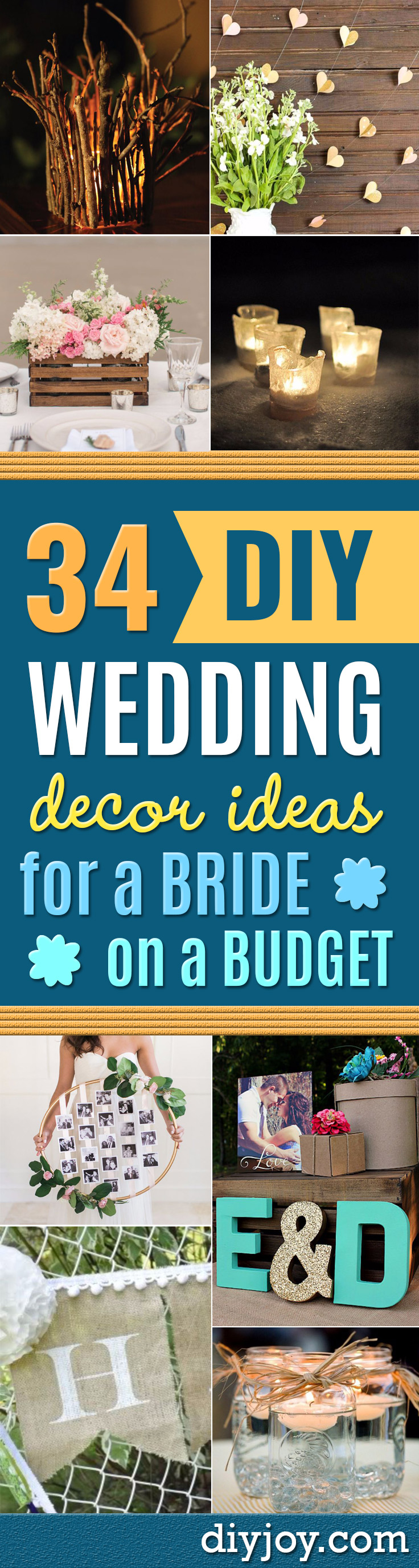 cheap diy wedding decor ideas - Easy and Cheap Project Ideas with Things Found in Dollar Stores - Simple and Creative Backdrops for Receptions On A Budget - Rustic, Elegant, and Vintage Paper Ideas for Centerpieces, and Vases
