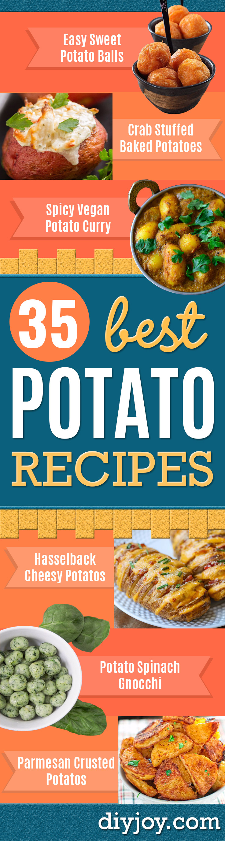 Potato Recipes - Easy, Quick and Healthy Potato Recipes - How To Make Roasted, In Oven, Fried, Mashed and Red Potatoes - Easy Potato Side Dishes and Soup Recipe Ideas for Dinner, Breakfast, Lunch, Appetizer and Snack http://diyjoy.com/potato-recipes