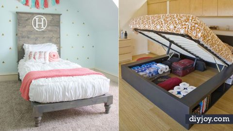 35 DIY Platform Beds For An Impressive Bedroom | DIY Joy Projects and Crafts Ideas