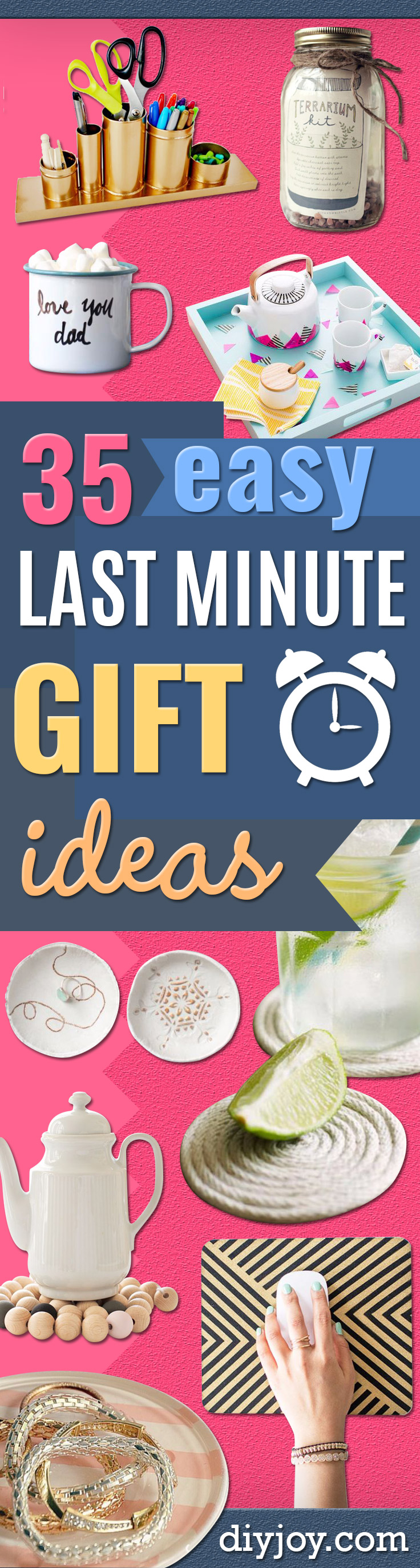 Last Minute Christmas Gifts - Quick DIY Gift Ideas and Easy Christmas Presents To Make for Mom, Dad, Family and Friends - Dollar Store Crafts and Cheap Homemade Gifts, Mason Jar Ideas for Gifts in A Jar, Cute and Creative Things To Make In A Hurry http://diyjoy.com/last-minute-gift-ideas-christmas