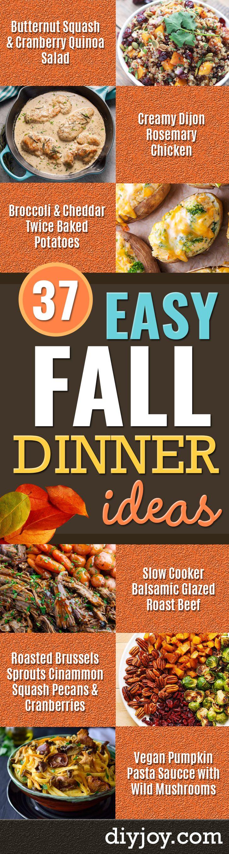 37 Fall Dinner Recipe Ideas