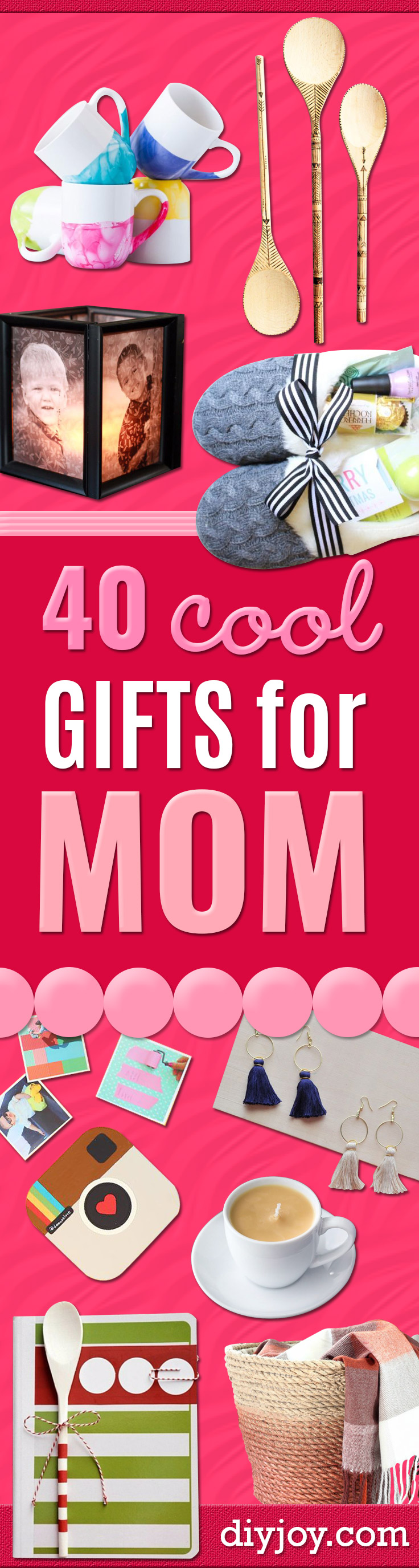 Cool Gifts to Make For Mom - DIY Gift Ideas and Christmas Presents for Your Mother, Mother-In-Law, Grandma, Stepmom - Creative , Holiday Crafts and Cheap DIY Gifts for The Holidays - Thoughtful Homemade Spa Day Gifts, Creative Wall Art, Special Ideas for Her - Easy Xmas Gifts to Make With Step by Step Tutorials and Instructions http://diyjoy.com/cheap-holiday-gift-ideas-to-make