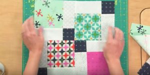 Woman Sews 9 Squares In A Block, Slices Down The Middle Making Disappearing Blocks!