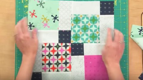 Woman Sews 9 Squares In A Block, Slices Down The Middle Making Disappearing Blocks! | DIY Joy Projects and Crafts Ideas