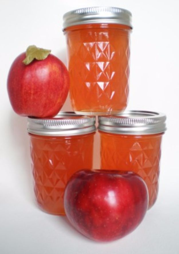 Best Jam and Jelly Recipes - Apple Core and Peeling Jelly - Homemade Recipe Ideas For Canning - Easy and Unique Jams and Jellies Made With Strawberry, Raspberry, Blackberry, Peach and Fruit - Healthy, Sugar Free, No Pectin, Small Batch, Savory and Freezer Recipes http://diyjoy.com/jam-jelly-recipes