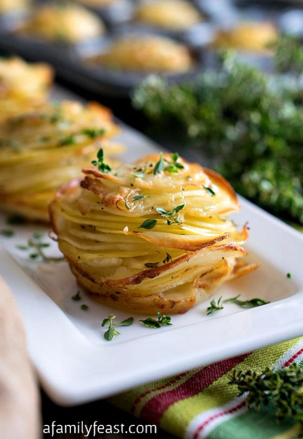 Potato Recipes - Asiago Potato Stacks - Easy, Quick and Healthy Potato Recipes - How To Make Roasted, In Oven, Fried, Mashed and Red Potatoes - Easy Potato Side Dishes and Soup Recipe Ideas for Dinner, Breakfast, Lunch, Appetizer and Snack http://diyjoy.com/potato-recipes