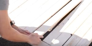 He Lines Up Boards, Nails Them To Horizontal Boards And Makes An Item Many Of Us Need!