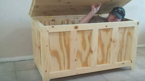 He Builds The Easiest Storage Chest For Blankets. Something Most Of Us Need Right? & He Builds The Easiest Storage Chest For Blankets. Something Most Of ...