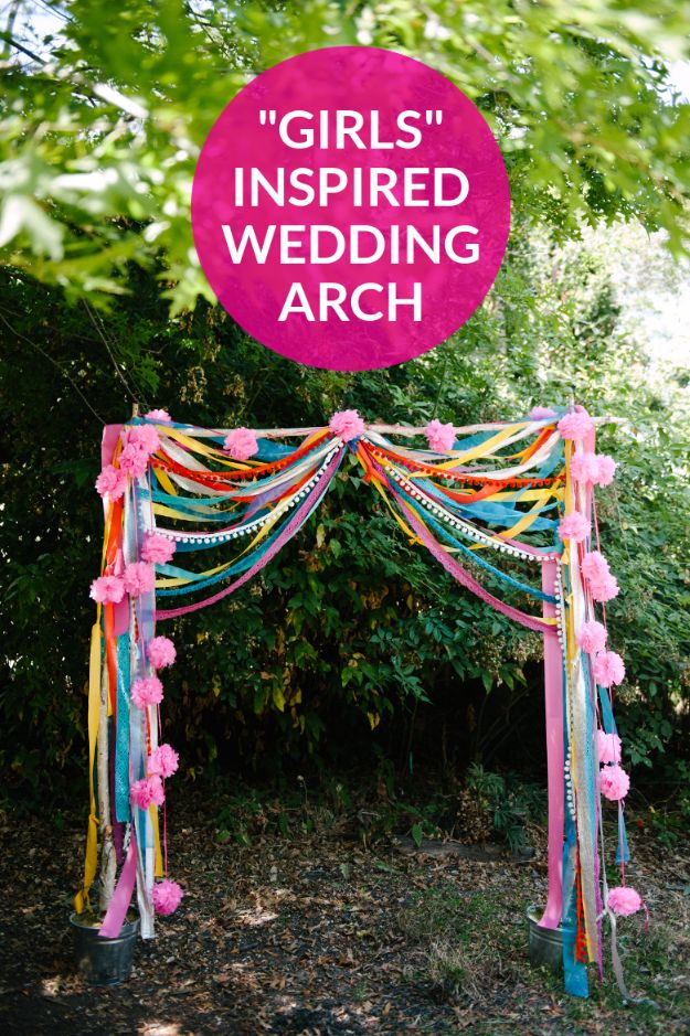 DIY Wedding Decor - Bohemian Wedding Arch - Easy and Cheap Project Ideas with Things Found in Dollar Stores - Simple and Creative Backdrops for Receptions On A Budget - Rustic, Elegant, and Vintage Paper Ideas for Centerpieces, and Vases
