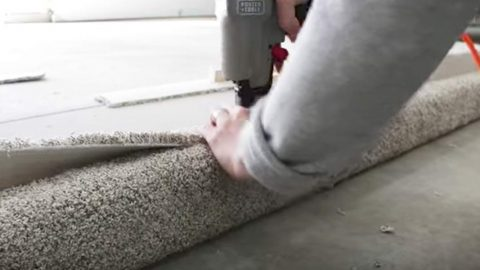 He Had Leftover Carpet And What He Does Is Not Only Clever But Made Someone Happy! | DIY Joy Projects and Crafts Ideas