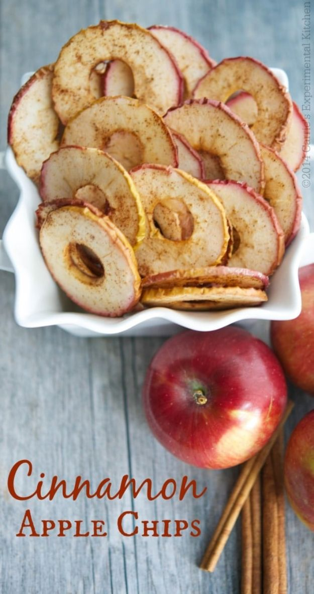 Healthy Thanksgiving Recipes - Cinnamon Apple Chips - Low fat Versions of Your Favorite Holiday Recipe for Turkey, Stuffing, Gravy, Pie and Desserts, Appetizers, Vegetables and Side Dishes like Spinach, Broccoli, Cranberries, Mashed Potatoes, Sweet Potatoes and Green Beans - Easy and Quick Last Minute Thanksgiving Recipes for Low Carb, Low Fat and Clean Eating Diets http://diyjoy.com/healthy-thanksgiving-recipes