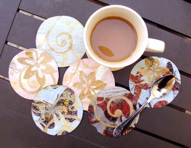 DIY Ideas With Plastic Bags - Coasters From Plastic Bags - How To Make Fun Upcycling Ideas and Crafts - Awesome Storage Projects Using Recycling - Coolest Craft Projects, Life Hacks and Ways To Upcycle a Plastic Bag #recycling #upcycling #crafts #diyideas