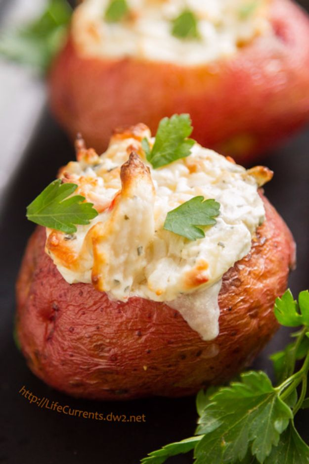 Potato Recipes - Crab Stuffed Baked Potatoes - Easy, Quick and Healthy Potato Recipes - How To Make Roasted, In Oven, Fried, Mashed and Red Potatoes - Easy Potato Side Dishes and Soup Recipe Ideas for Dinner, Breakfast, Lunch, Appetizer and Snack http://diyjoy.com/potato-recipes
