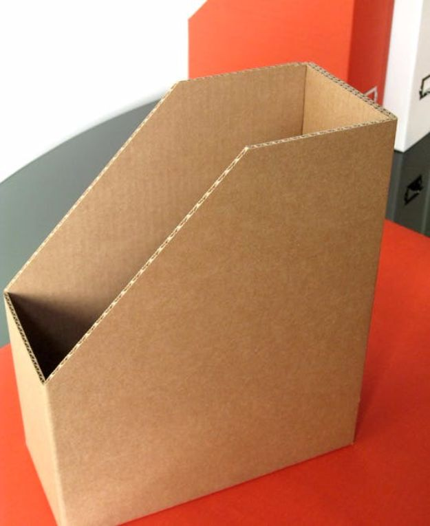DIY Ideas With Cardboard - Custom Magazine Files - How To Make Room Decor Crafts for Kids - Easy and Crafty Storage Ideas For Room - Toilet Paper Roll Projects Tutorials - Fun Furniture Ideas with Cardboard - Cheap, Quick and Easy Wall Decorations http://diyjoy.com/diy-ideas-cardboard