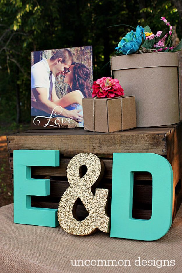 DIY Wedding Decor - Custom Monogram Letter - Easy and Cheap Project Ideas with Things Found in Dollar Stores - Simple and Creative Backdrops for Receptions On A Budget - Rustic, Elegant, and Vintage Paper Ideas for Centerpieces, and Vases