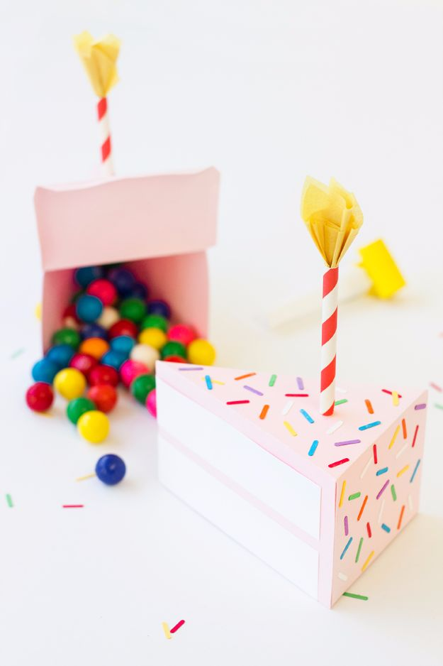 Cool Gift Wrapping Ideas - DIY Birthday Cake Box - Creative Ways To Wrap Presents on A Budget - Best Christmas Gift Wrap Ideas - How To Make Gift Bags, Reuse Wrapping Paper, Make Bows and Tags - Cute and Easy Ideas for Wrapping Gifts for the Holidays - Step by Step Instructions and Photo Tutorials