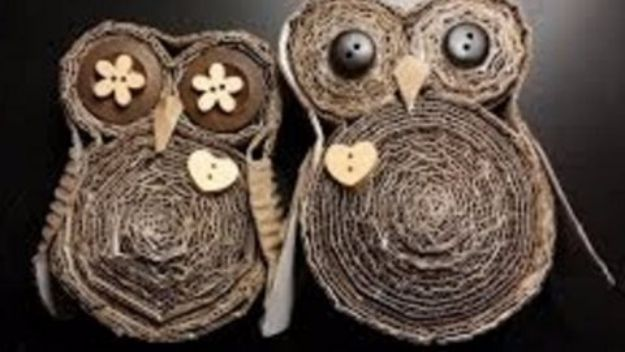 DIY Ideas With Cardboard - DIY Cardboard Owls - How To Make Room Decor Crafts for Kids - Easy and Crafty Storage Ideas For Room - Toilet Paper Roll Projects Tutorials - Fun Furniture Ideas with Cardboard - Cheap, Quick and Easy Wall Decorations #diyideas #cardboardcrafts #crafts