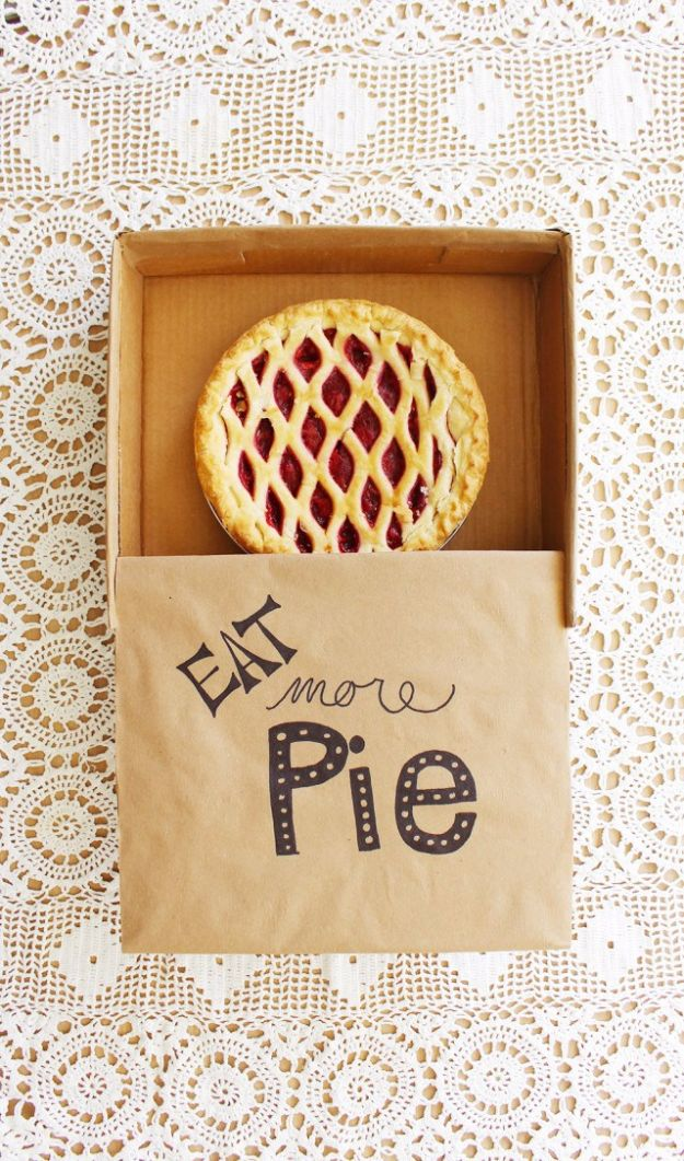 DIY Ideas With Cardboard - DIY Cardboard Pie Box - How To Make Room Decor Crafts for Kids - Easy and Crafty Storage Ideas For Room - Toilet Paper Roll Projects Tutorials - Fun Furniture Ideas with Cardboard - Cheap, Quick and Easy Wall Decorations #diyideas #cardboardcrafts #crafts