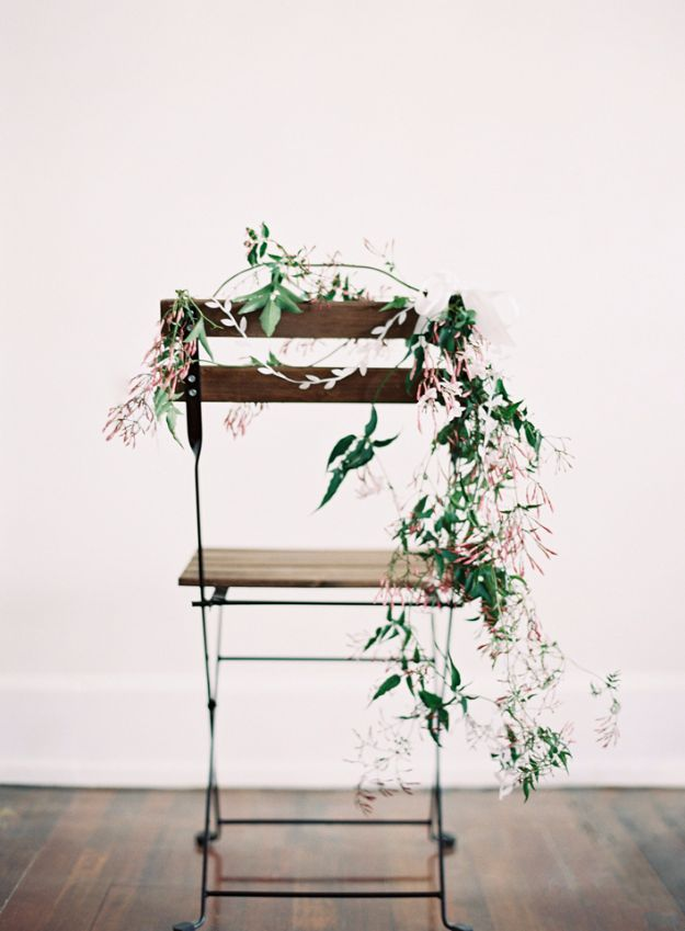 DIY Wedding Decor - DIY Chair Wedding Garland - Easy and Cheap Project Ideas with Things Found in Dollar Stores - Simple and Creative Backdrops for Receptions On A Budget - Rustic, Elegant, and Vintage Paper Ideas for Centerpieces, and Vases http://diyjoy.com/cheap-wedding-decor-ideas