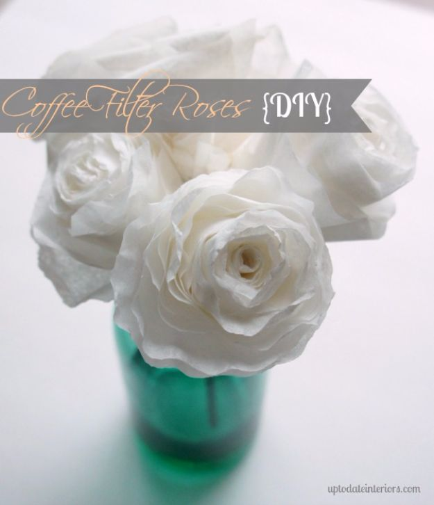 DIY Wedding Decor - DIY Coffee Filter Roses - Easy and Cheap Project Ideas with Things Found in Dollar Stores - Simple and Creative Backdrops for Receptions On A Budget - Rustic, Elegant, and Vintage Paper Ideas for Centerpieces, and Vases