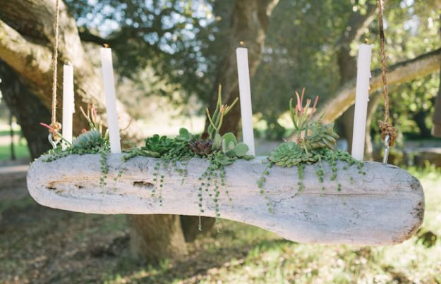 DIY Wedding Decor - Driftwood - Easy and Cheap Project Ideas with Things Found in Dollar Stores - Simple and Creative Backdrops for Receptions On A Budget - Rustic, Elegant, and Vintage Paper Ideas for Centerpieces, and Vases