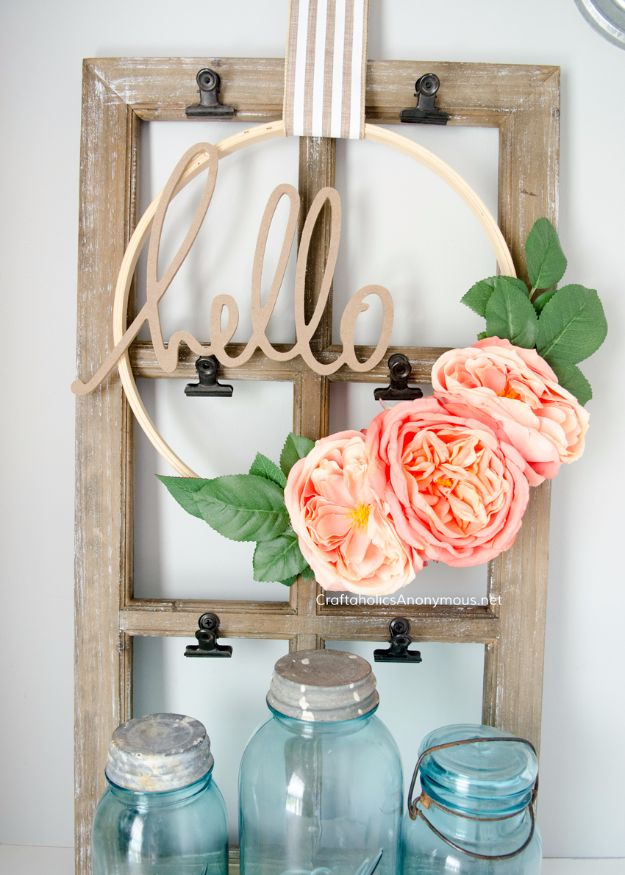 Cheap DIY Gifts and Inexpensive Homemade Christmas Gift Ideas for People on A Budget - DIY Floral Embroidery Hoop Wreaths - To Make These Cool Presents Instead of Buying for the Holidays - Easy and Low Cost Gifts for Mom, Dad, Friends and Family - Quick Dollar Store Crafts and Projects for Xmas Gift Giving Parties - Step by Step Tutorials and Instructions http://diyjoy.com/cheap-holiday-gift-ideas-to-make