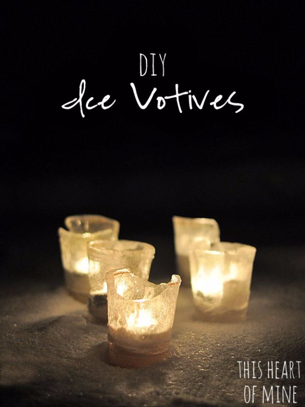 DIY Wedding Decor - DIY Ice Votives - Easy and Cheap Project Ideas with Things Found in Dollar Stores - Simple and Creative Backdrops for Receptions On A Budget - Rustic, Elegant, and Vintage Paper Ideas for Centerpieces, and Vases http://diyjoy.com/cheap-wedding-decor-ideas