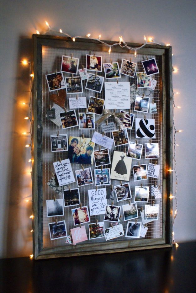 DIY Ideas With Old Picture Frames - DIY Inspiration Mood Board - Cool Crafts To Make With A Repurposed Picture Frame - Cheap Do It Yourself Gifts and Home Decor on A Budget - Fun Ideas for Decorating Your House and Room http://diyjoy.com/diy-ideas-picture-frames